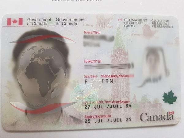نمونه کارت اقامت دائم کانادا - 2